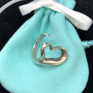 TC033 Peretti Open Heart Sterling Silver Ring US 6